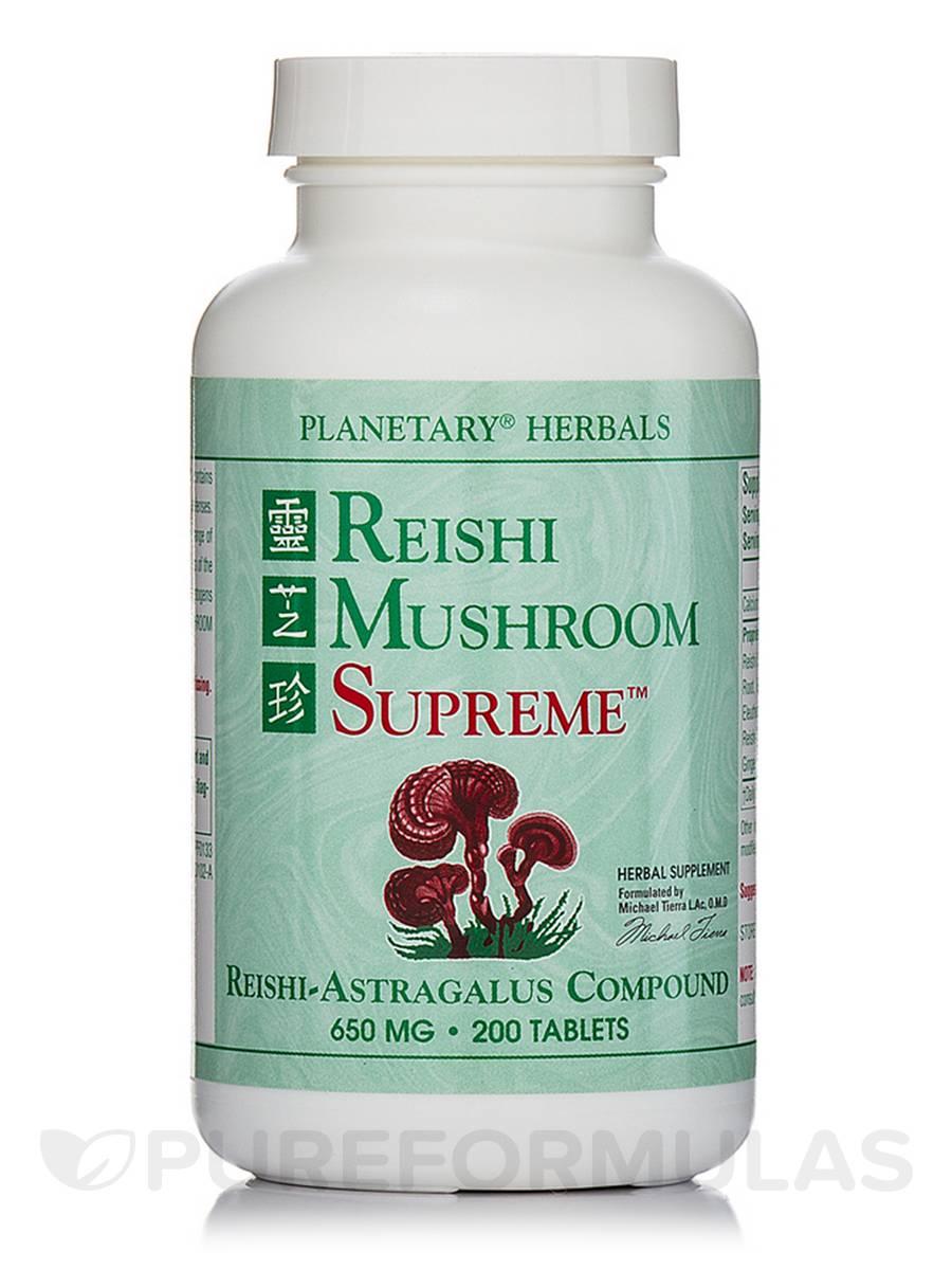 Reishi Mushroom Supreme 650 mg - 200 Tablets