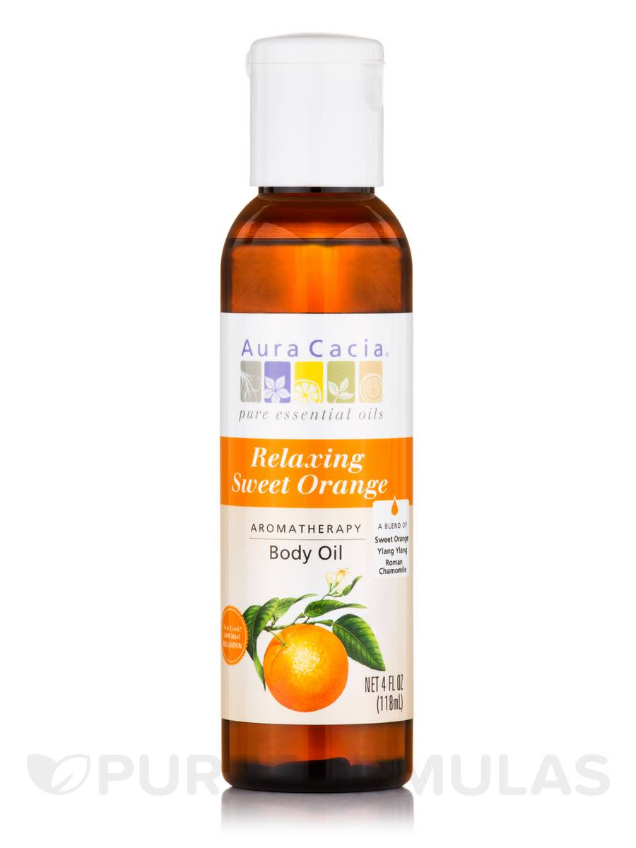 Relaxing Sweet Orange, Aromatherapy Body Oil - 4 fl. oz (118 ml)