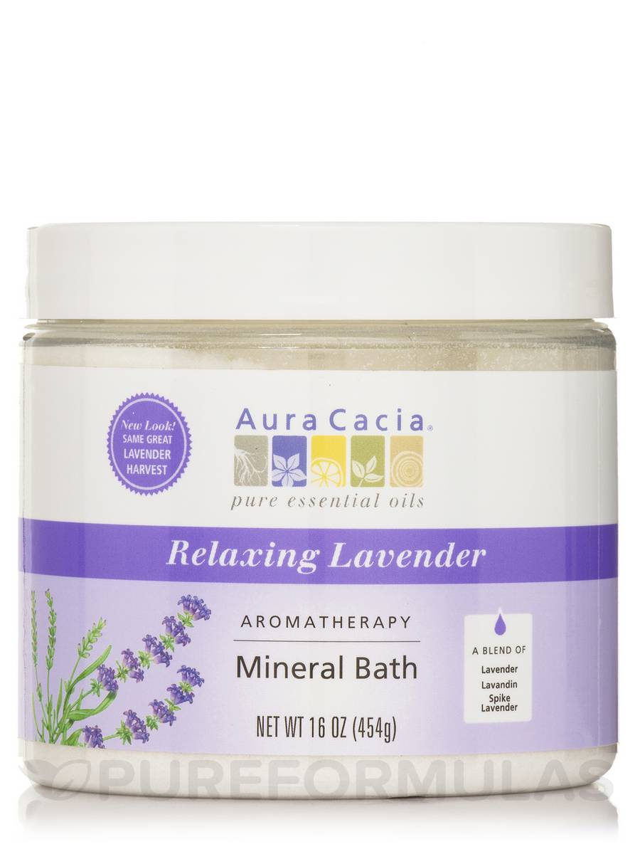 Relaxing Lavender Aromatherapy Mineral Bath Salts (Lavender Harvest) - 16 oz (454 Grams)