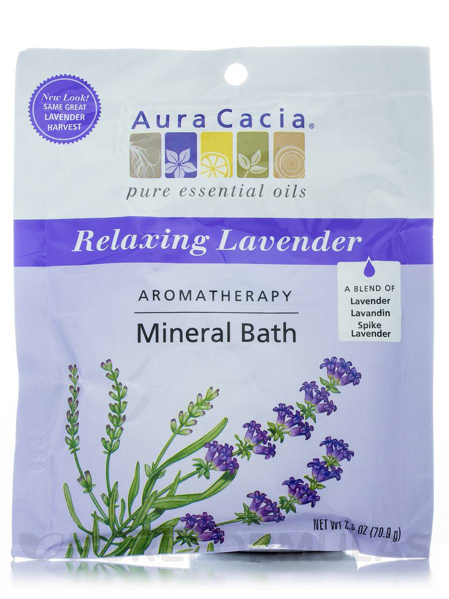 Relaxing Lavender Aromatherapy Mineral Bath Salts (Lavender Harvest) - 2.5 oz (70.9 Grams)