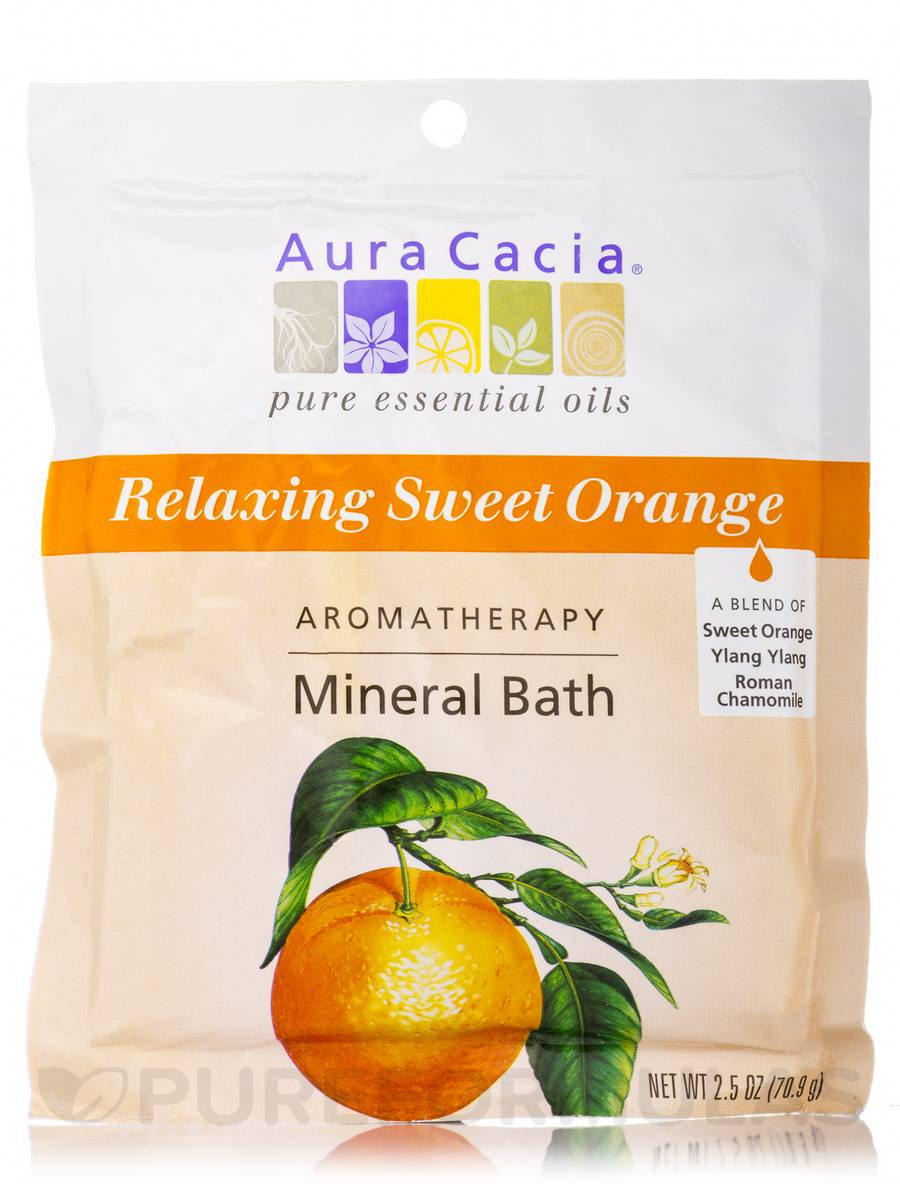 Relaxing Sweet Orange Mineral Bath Salts (Relaxation) - 2.5 oz (70.9 Grams)