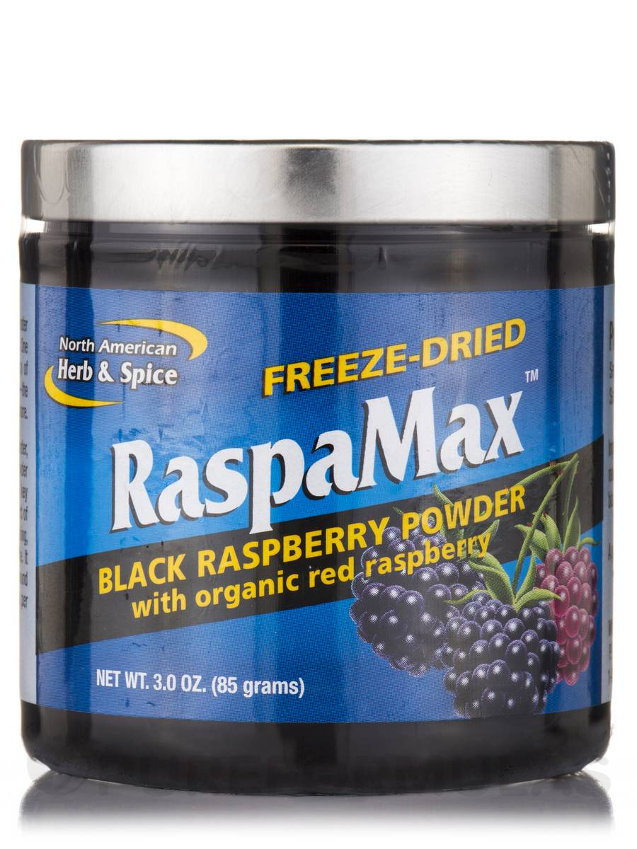 RaspaMax (Black Raspberry Powder with Organic Red Raspberry) - 3 oz (85 Grams)