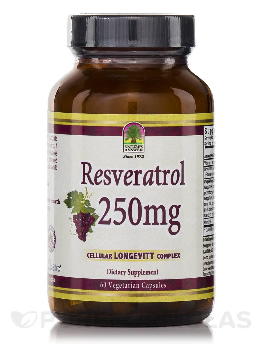Resveratrol 250 mg - 60 Vegetarian Capsules