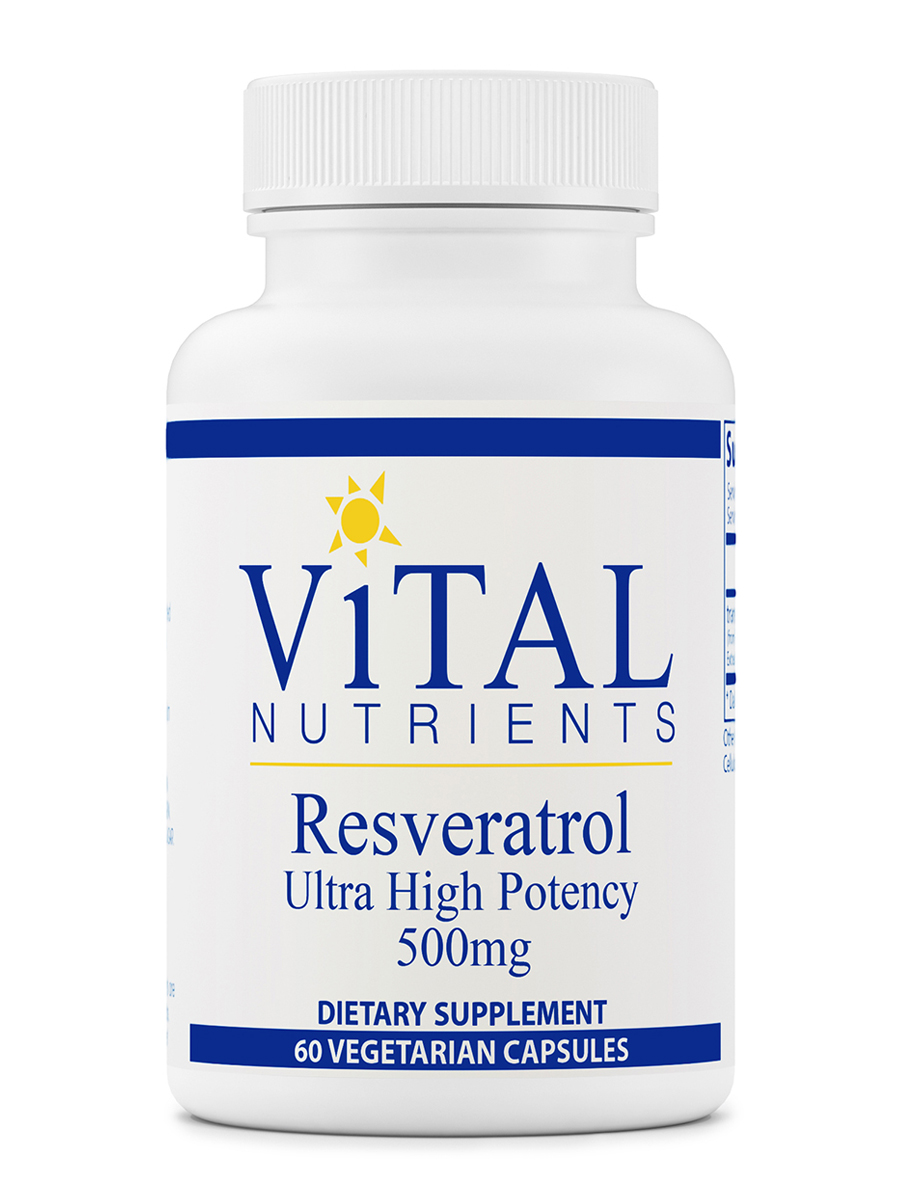 Resveratrol Ultra High Potency 500 Mg 60 Vegetarian Capsules
