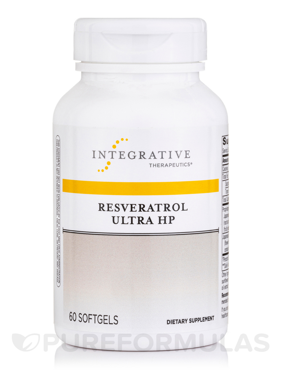 Resveratrol Ultra High Potency - 60 Softgels
