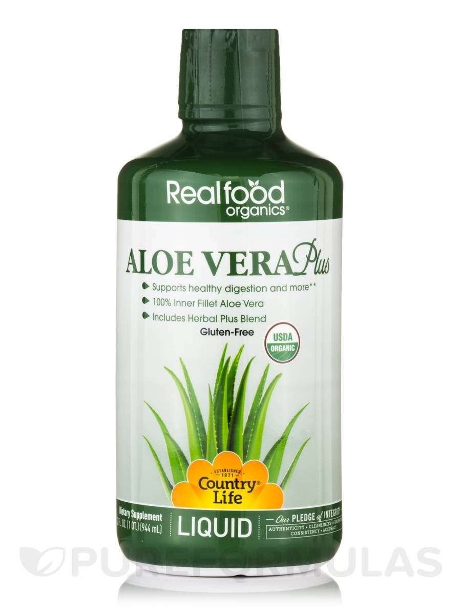 Realfood Organics® - Liquid Aloe Vera Plus - 32 fl. oz (1 Qt / 944 ml)