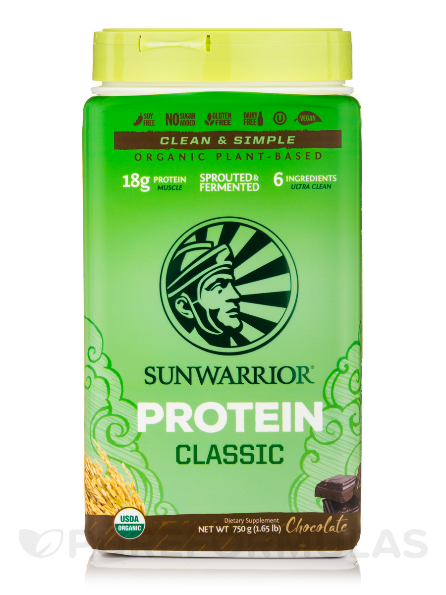 Classic Protein (Raw Vegan, Chocolate Flavor) - 35.2 oz (1000 Grams)