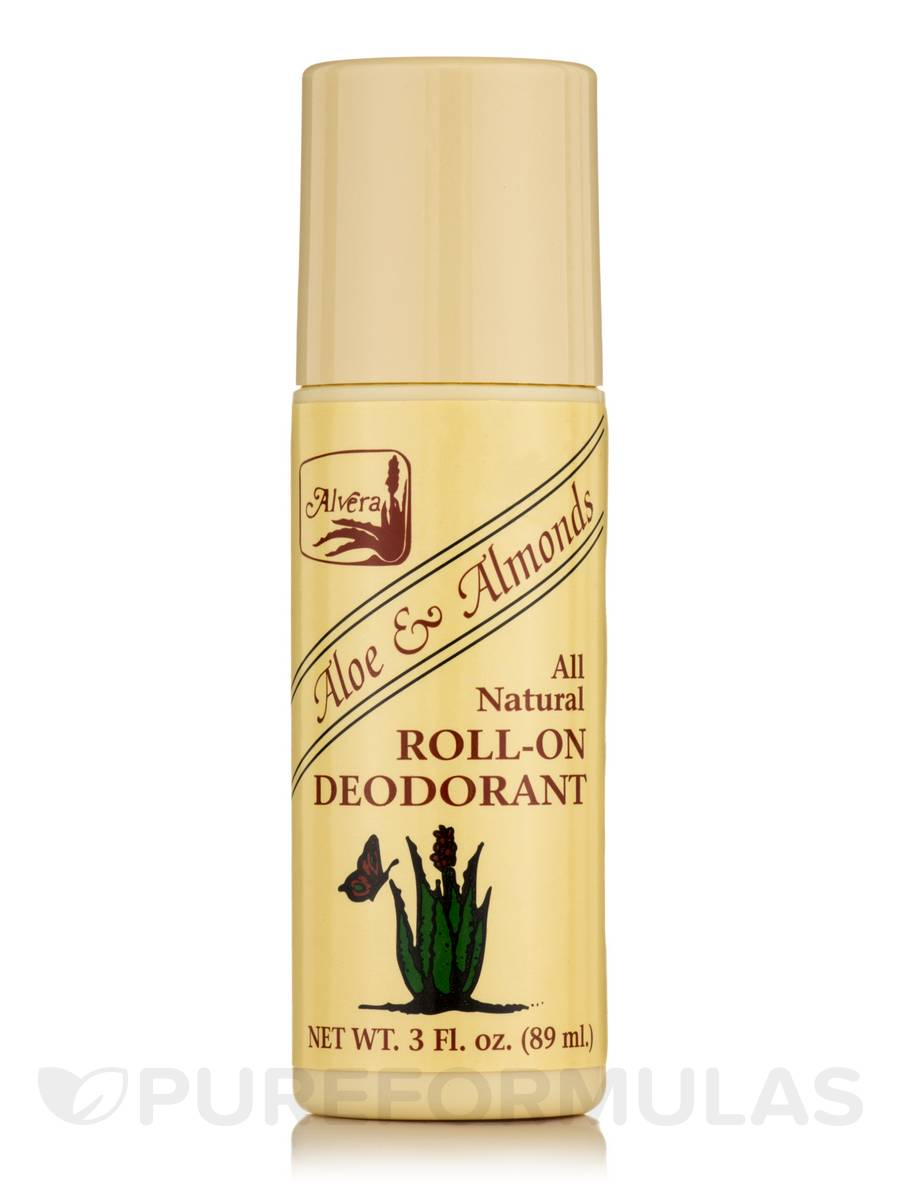 Roll-on Deodorant Aloe Based & Almonds - 3 fl. oz (89 ml)
