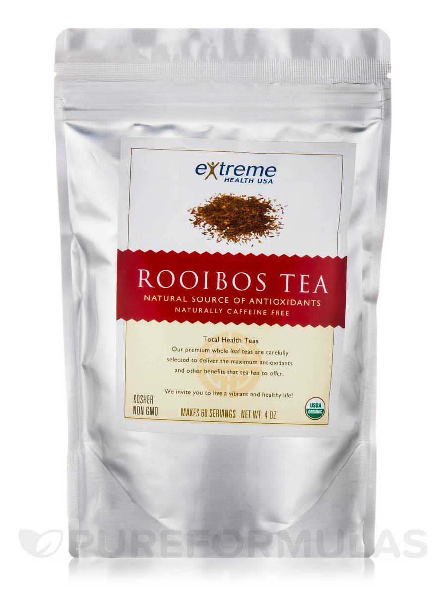 Organic Rooibos Tea (Caffeine-Free) - 60 Servings (4 oz)