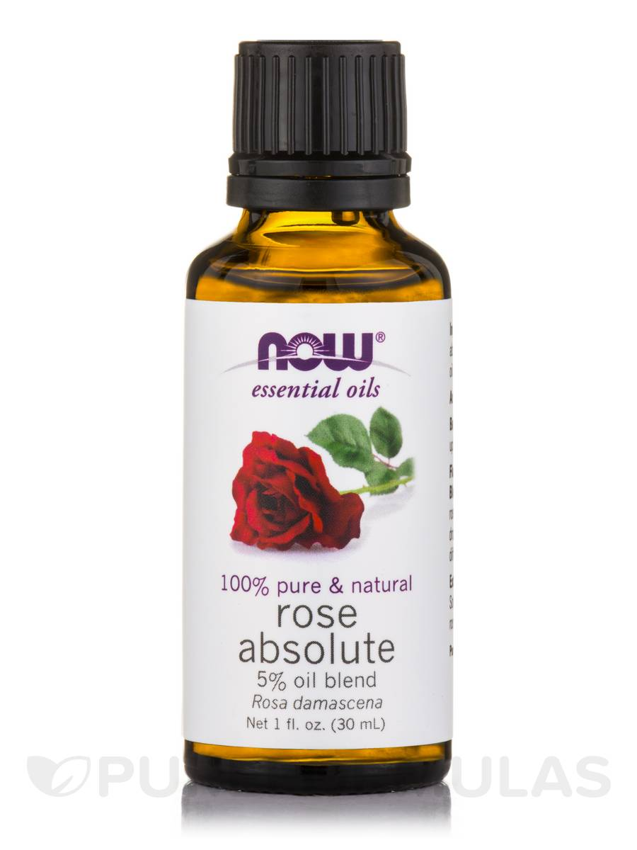 NOW® Essential Oils - Rose Absolute Oil - 1 fl. oz (30 ml)