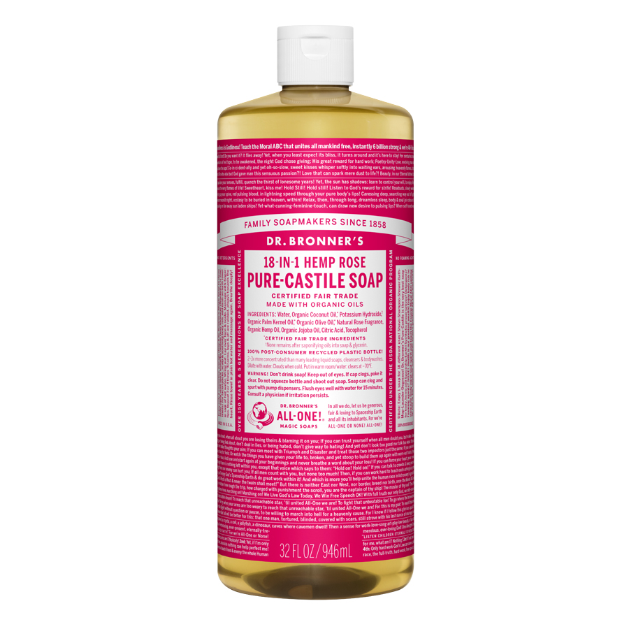Rose Pure Castile Liquid Soap - 32 fl. oz (946 ml)