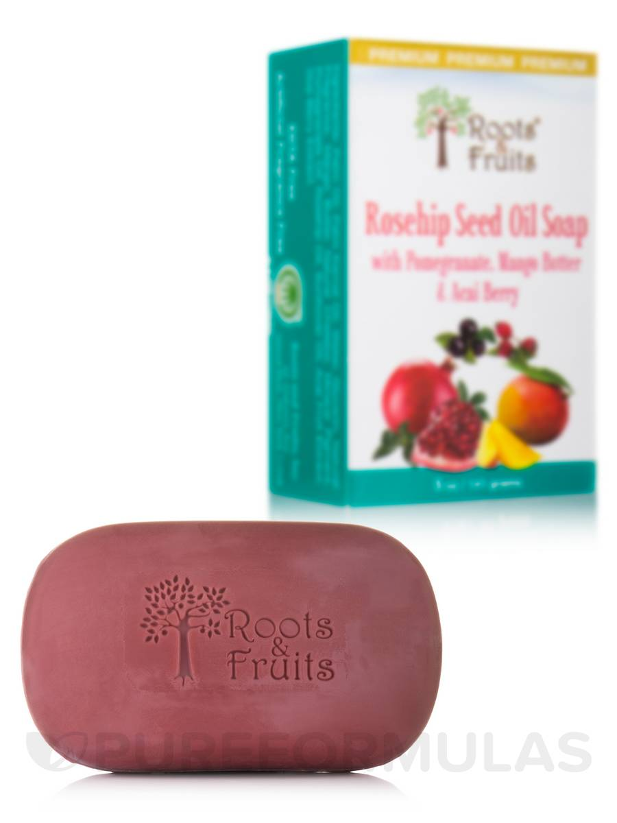 Rosehip Seed Oil Soap Bar with Pomegranate, Mango Butter & Acai Berry - 5 oz (141 Grams)