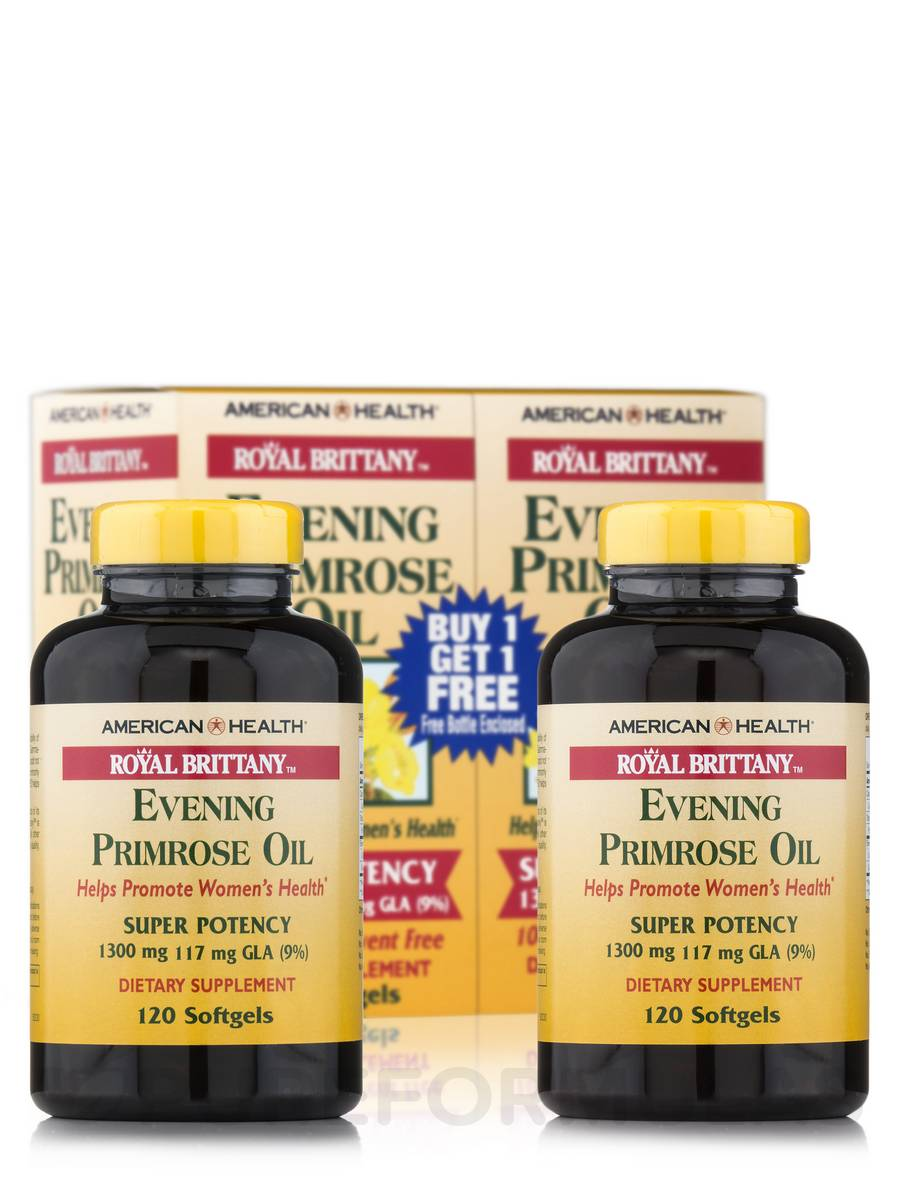 Royal Brittany™ Evening Primrose Oil 1300 mg Softgels - 120 + 120 Free