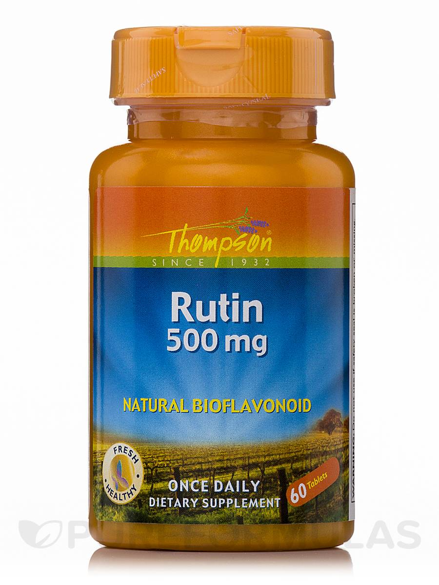 Rutin 500 mg (Natural Bioflavonoid) - 60 Tablets