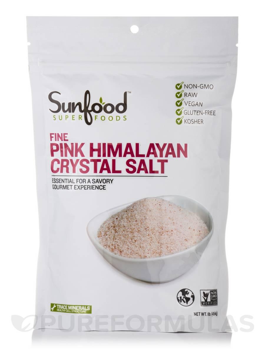 Fine Pink Himalayan Crystal Salt - 1 lb (454 Grams)