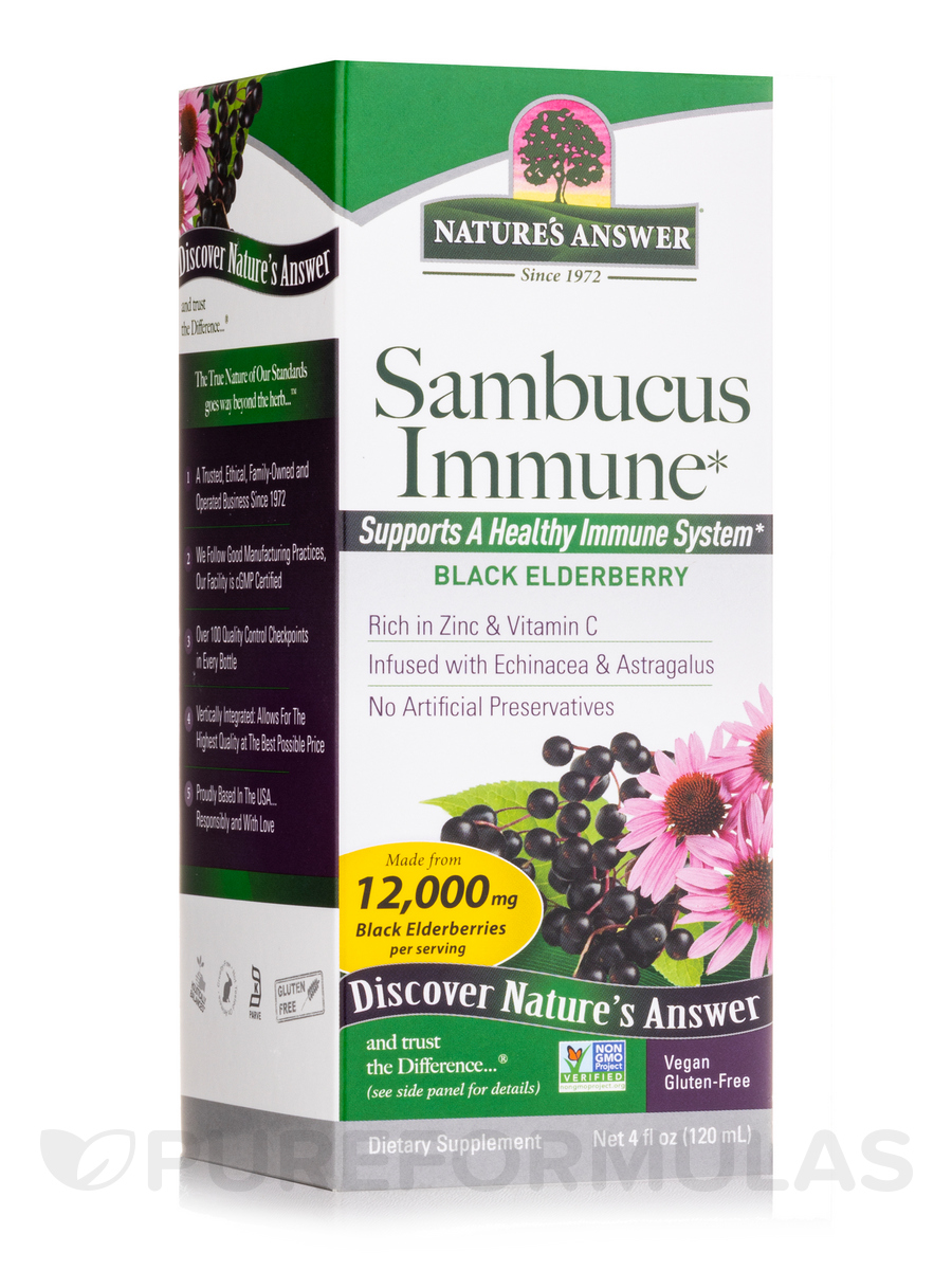 Sambucus (Black Elder Berry) Super Concentrated Imune Support - 4 fl. oz (120 ml)