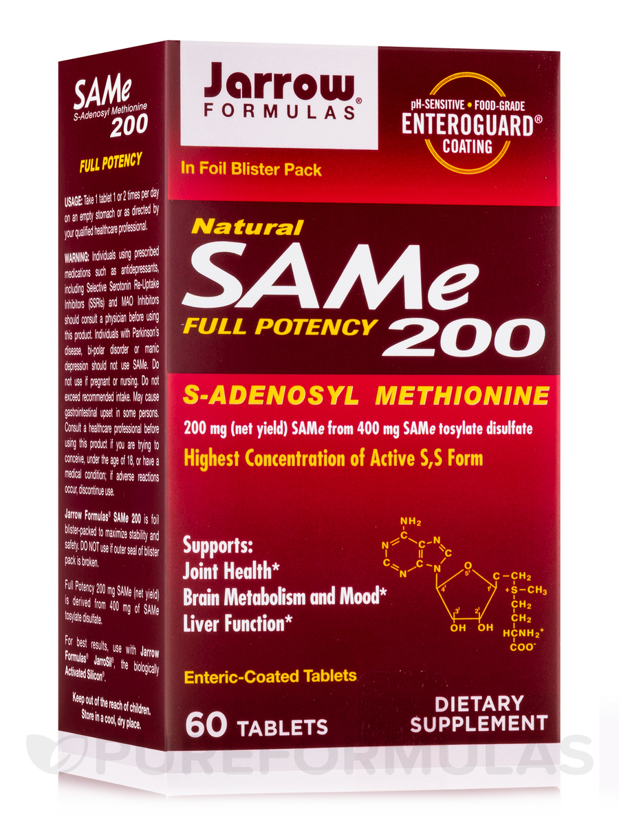 SAM-e 200 mg - 60 Tablets