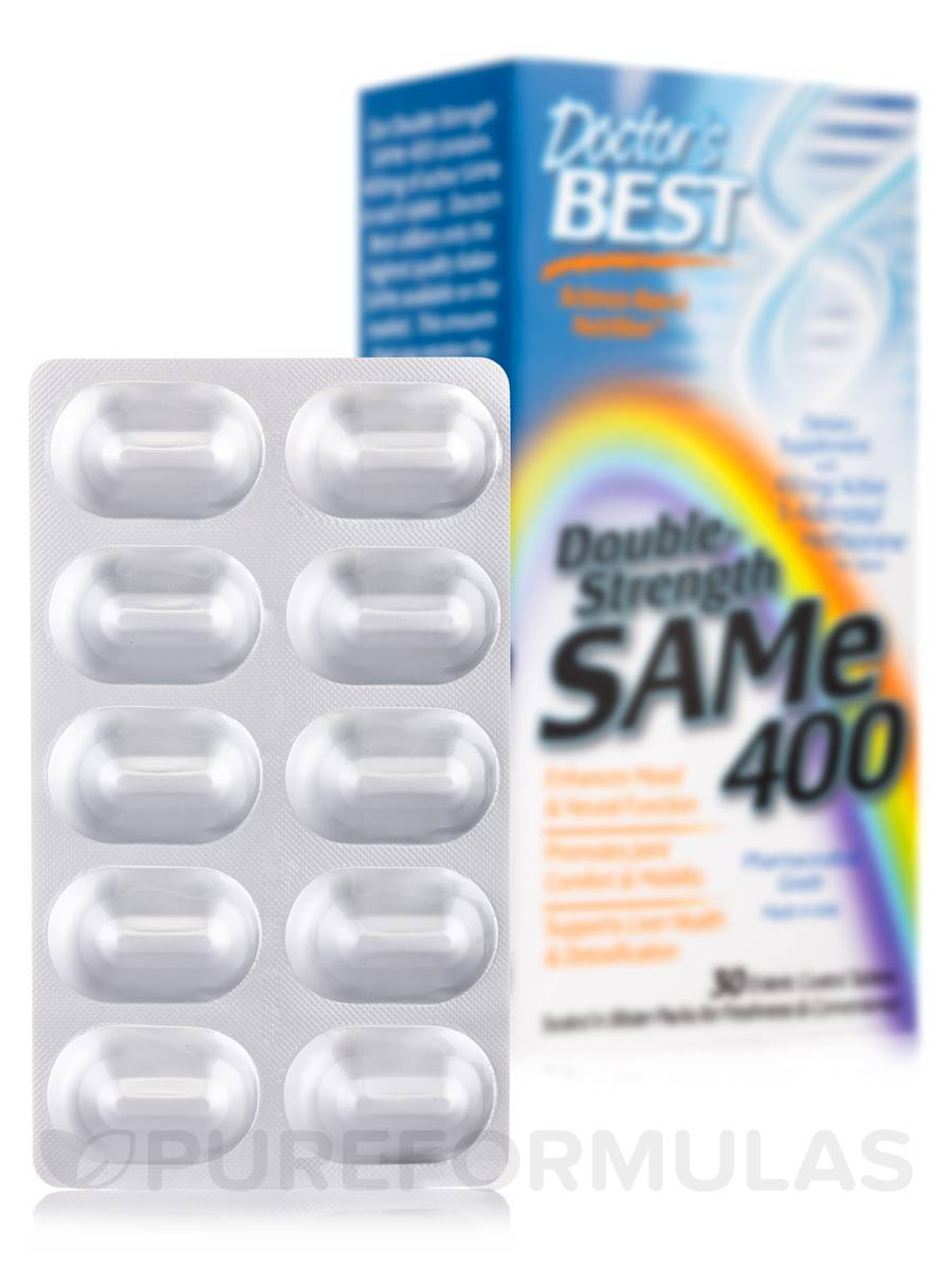 SAM-e 400 mg (Double Strength) - 30 Tablets