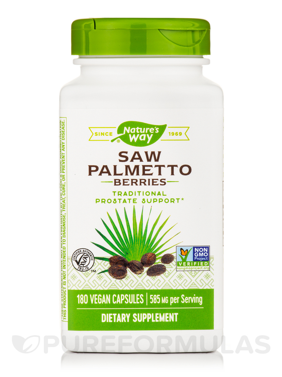 Saw Palmetto Berries - 180 Capsules