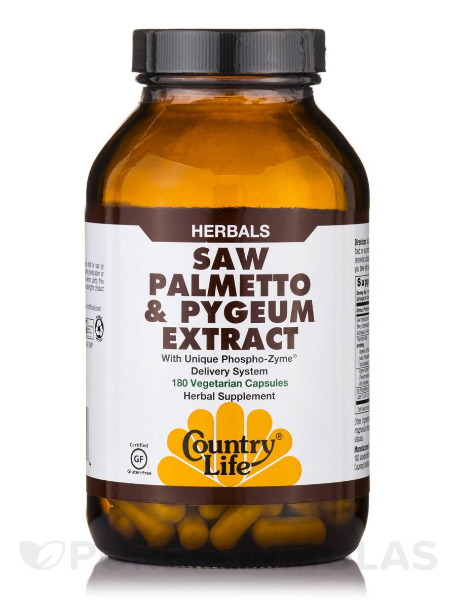 Saw Palmetto & Pygeum - 180 Vegetarian Capsules