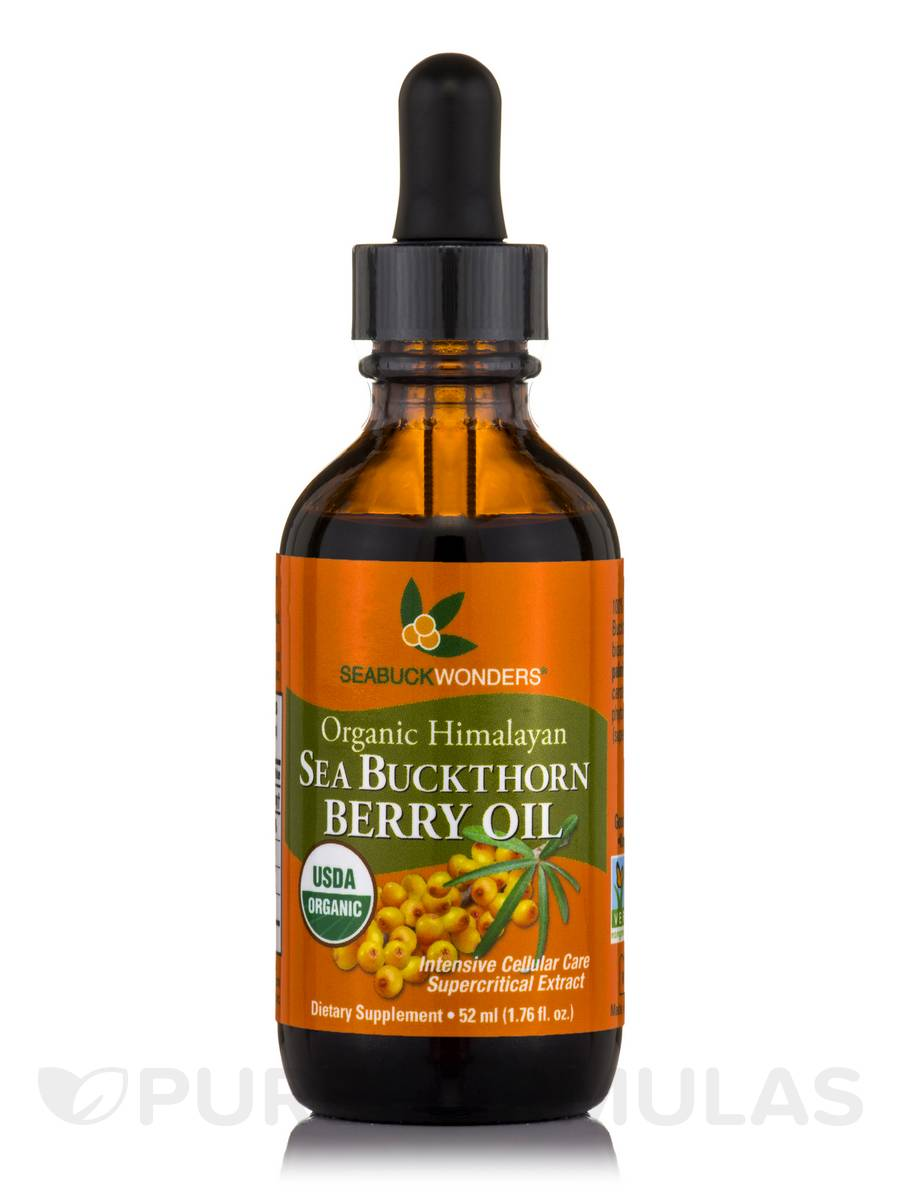 Sea Buckthorn Berry Oil (USDA Organic) - 1.76 fl. oz (52 ml)