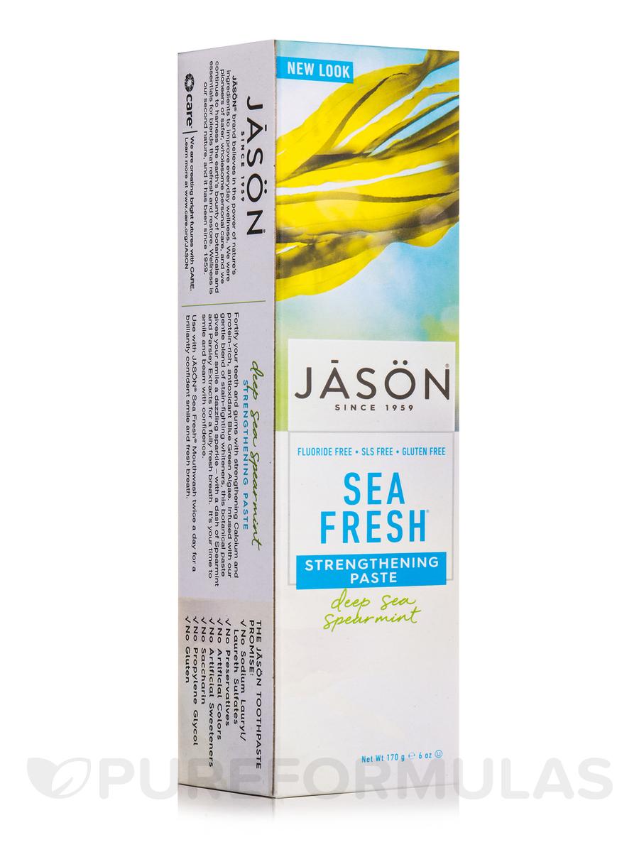 Sea Fresh Strengthening Antiplaque Toothpaste (Flouride-Free) - 6 oz (170 Grams)