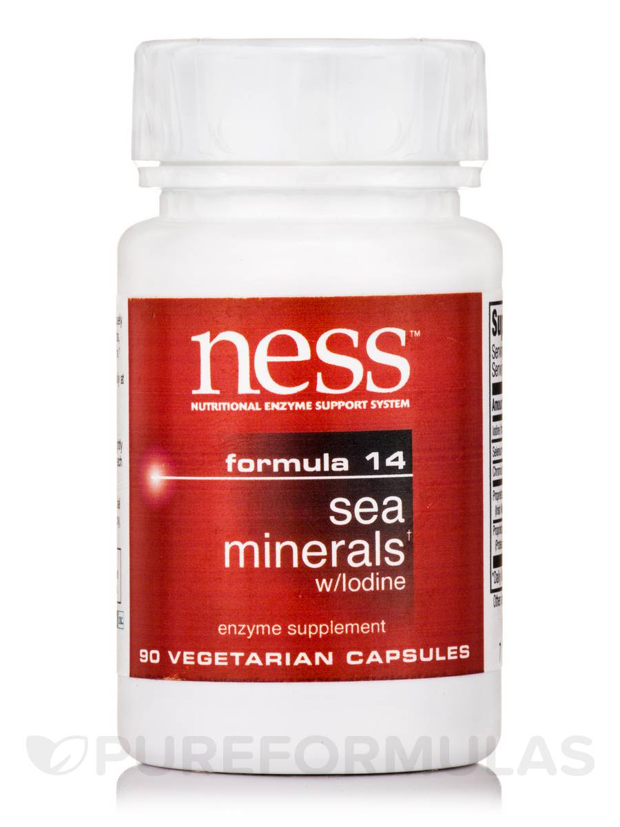 Sea Minerals with Iodine (Formula 14) - 90 Vegetarian Capsules
