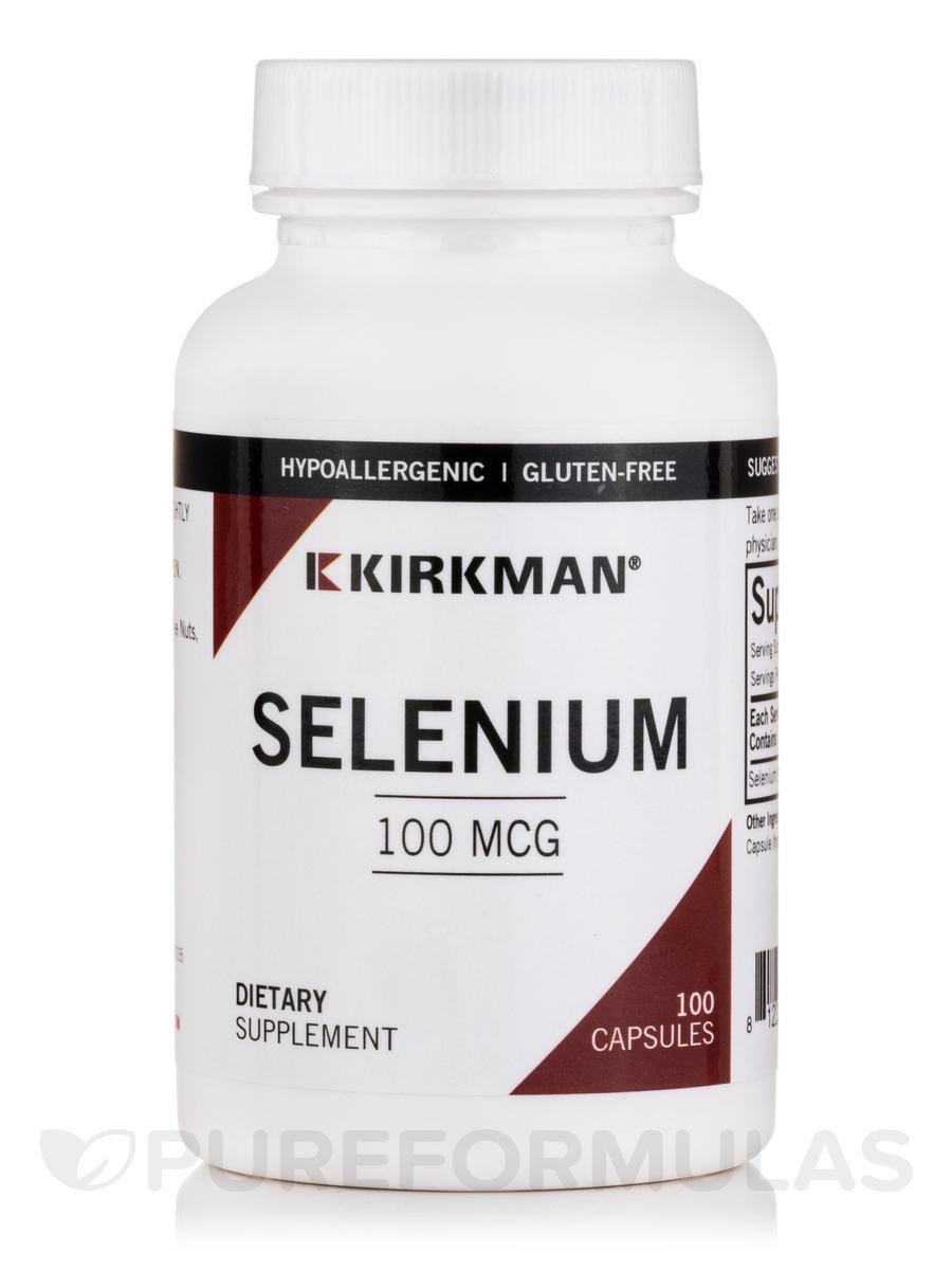 Selenium 100 mcg -Hypoallergenic - 100 Capsules