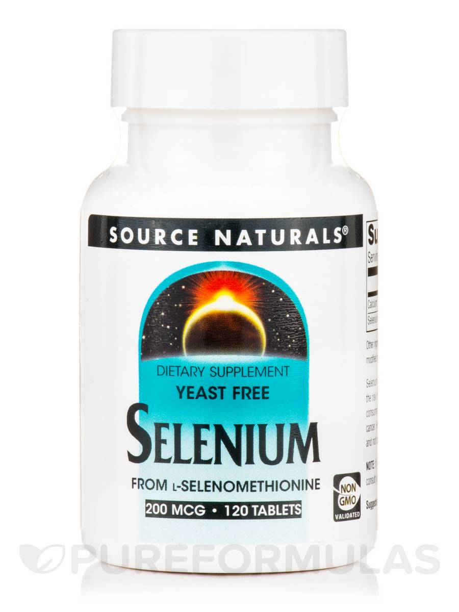 Selenium 200 mcg Yeast Free - 120 Tablets