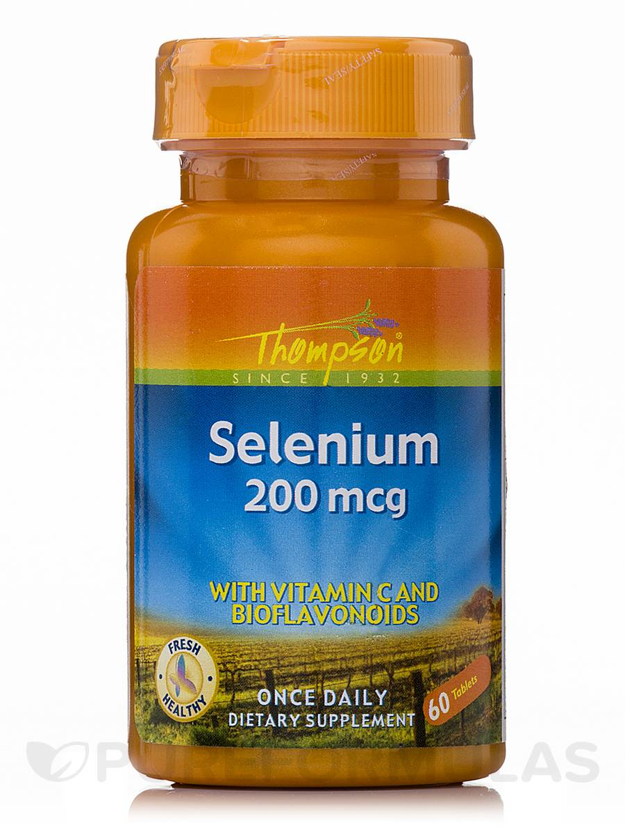 Selenium 200 mcg with Vitamin C and Bioflavonoids - 60 Tablets