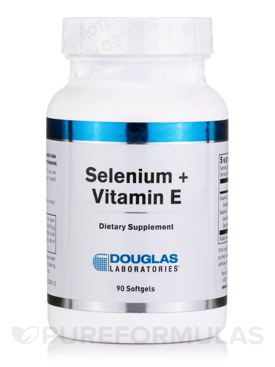 Selenium + Vitamin E - 90 Softgels