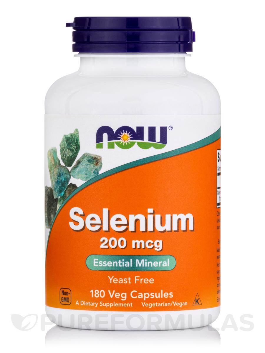 Selenium (Yeast Free) 200 mcg - 180 Vegetarian Capsules