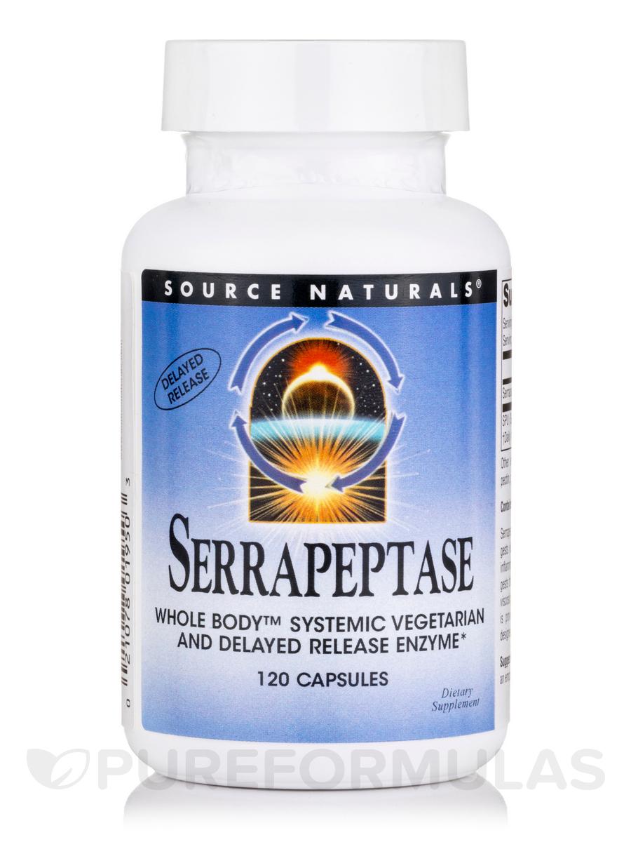 Serrapeptase 500 mg - 120 Vegetarian Capsules