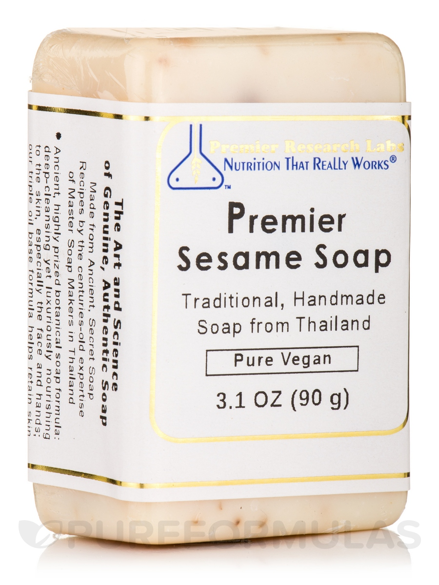 Sesame Bar Soap Premier - 3.5 oz (100 Grams)