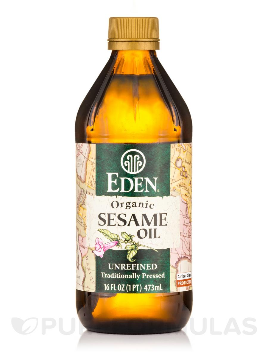 Sesame Oil, Extra Virgin, Organic - 16 fl. oz (473 ml)