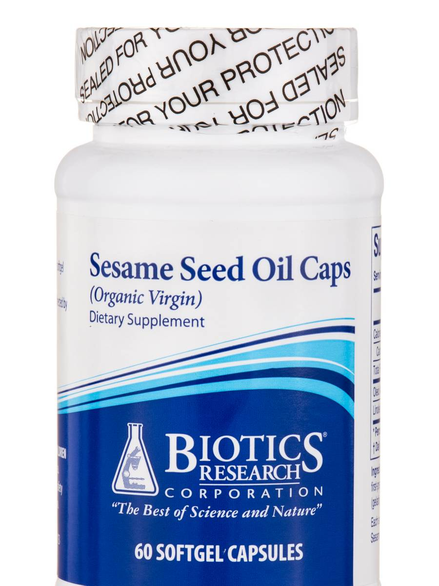 Sesame Seed Oil Caps (Organic Virgin) - 60 Softgel Capsules