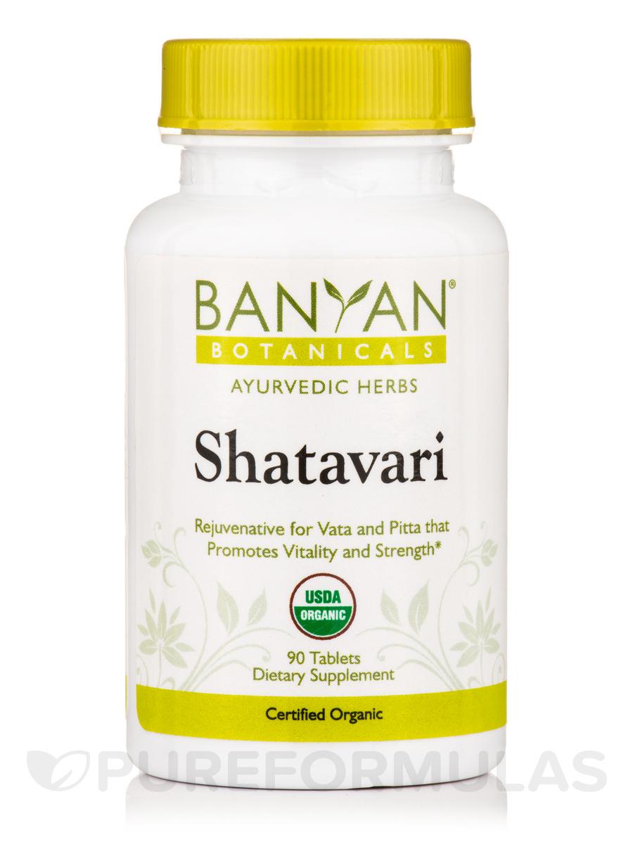 Shatavari, Organic - 90 Tablets