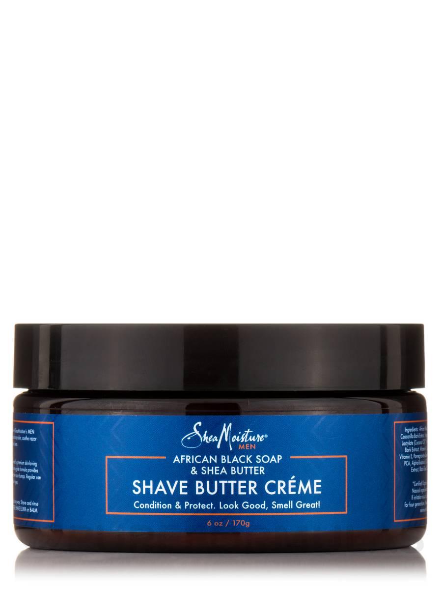 Men's African Black Soap & Shea Butter Shave Butter Créme - 6 oz (170 Grams)