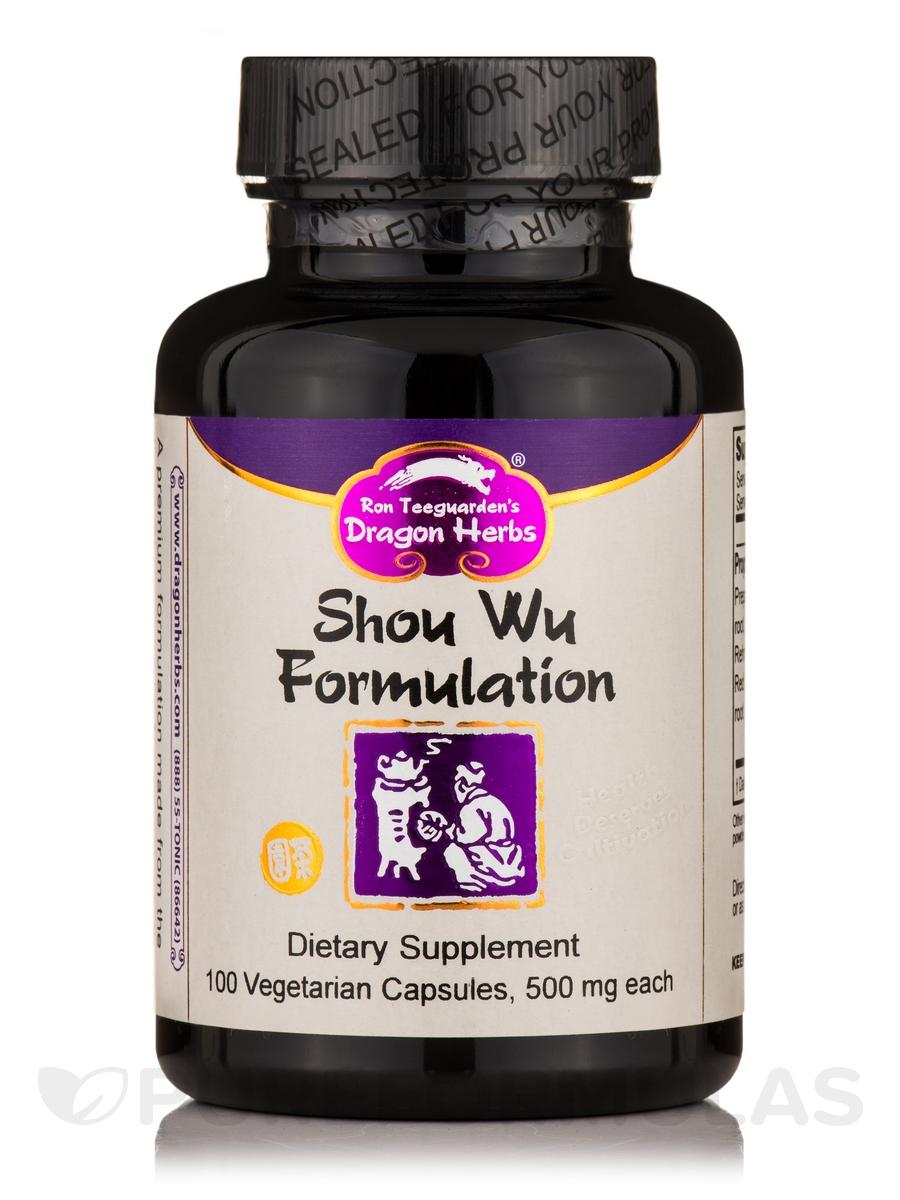 Shou Wu Formulation - 100 Vegetarian Capsules