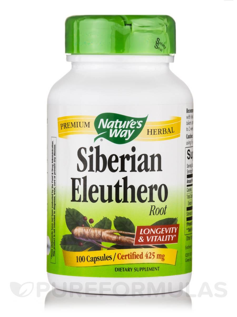 Siberian Eleuthero 425 mg - 100 Capsules