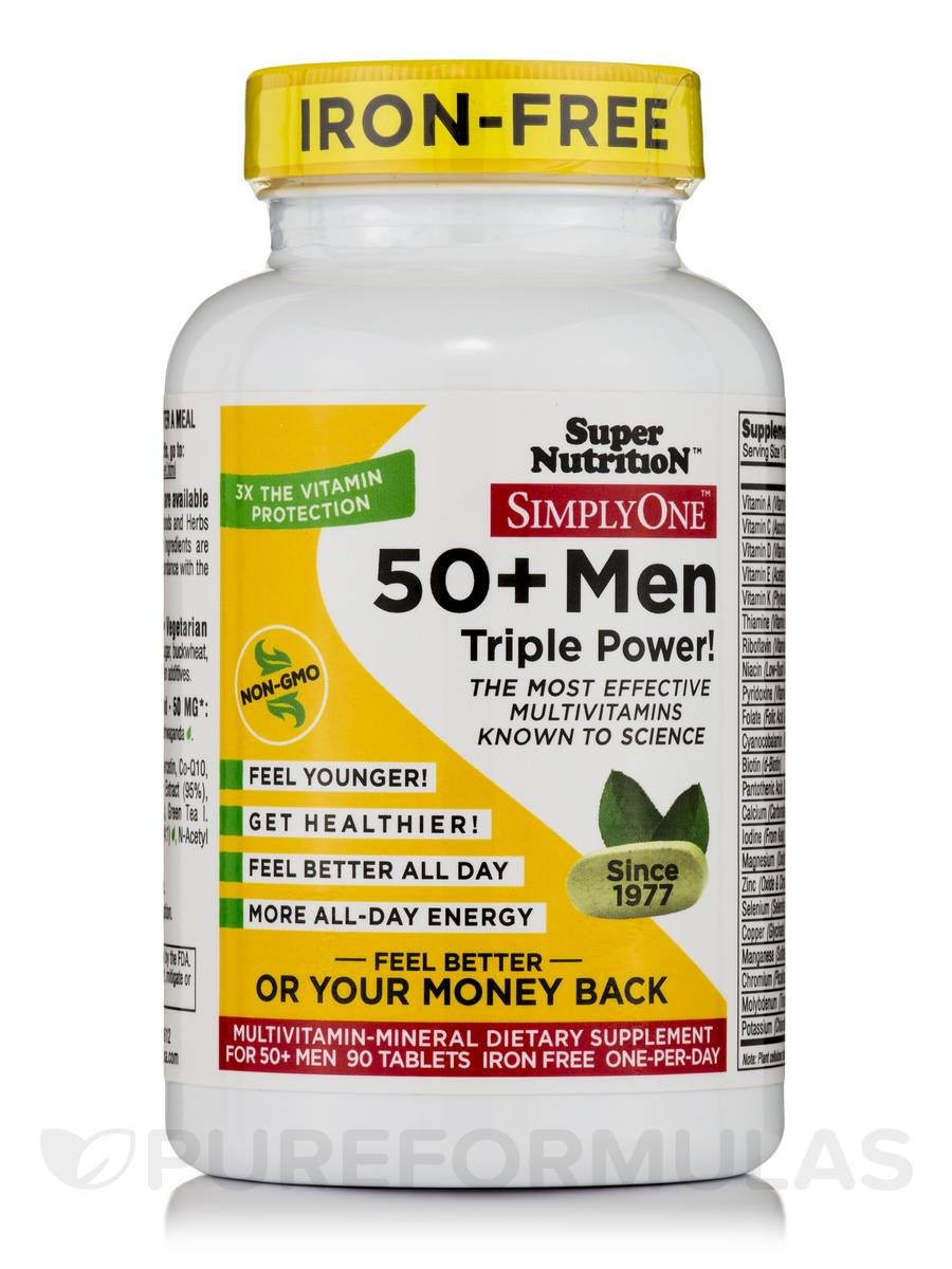 Simply One® 50+ Men Multivitamins (Iron-Free) - 90 Tablets