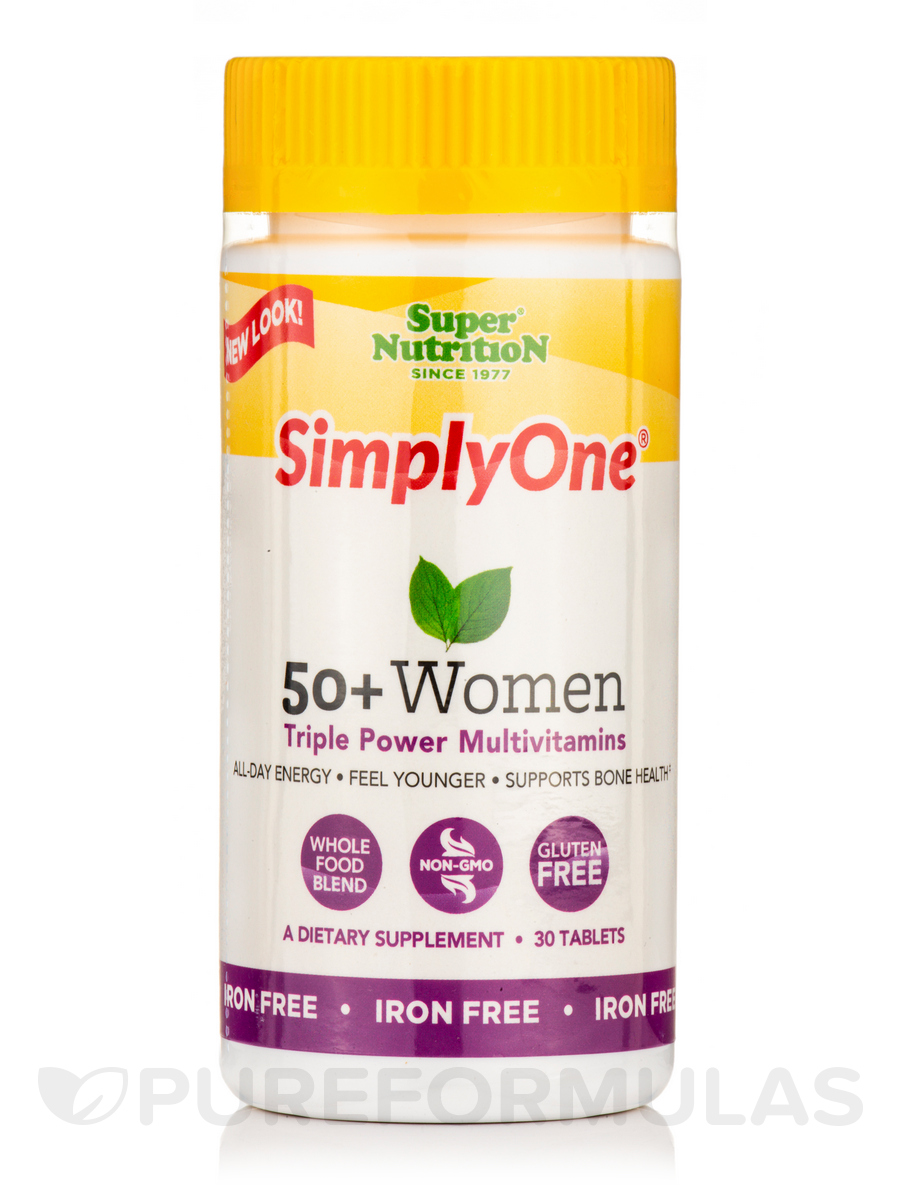 Simply One® 50+ Women, Iron-Free - 30 Tablets
