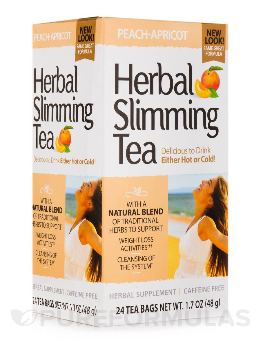Herbal Slimming Tea, Peach Apricot - 24 Tea Bags