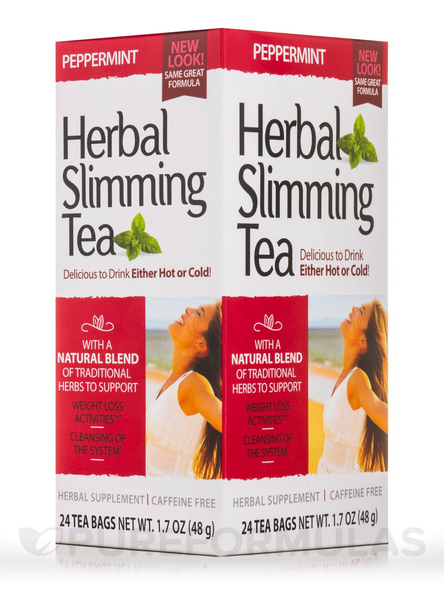 Herbal Slimming Tea, Peppermint - 24 Tea Bags