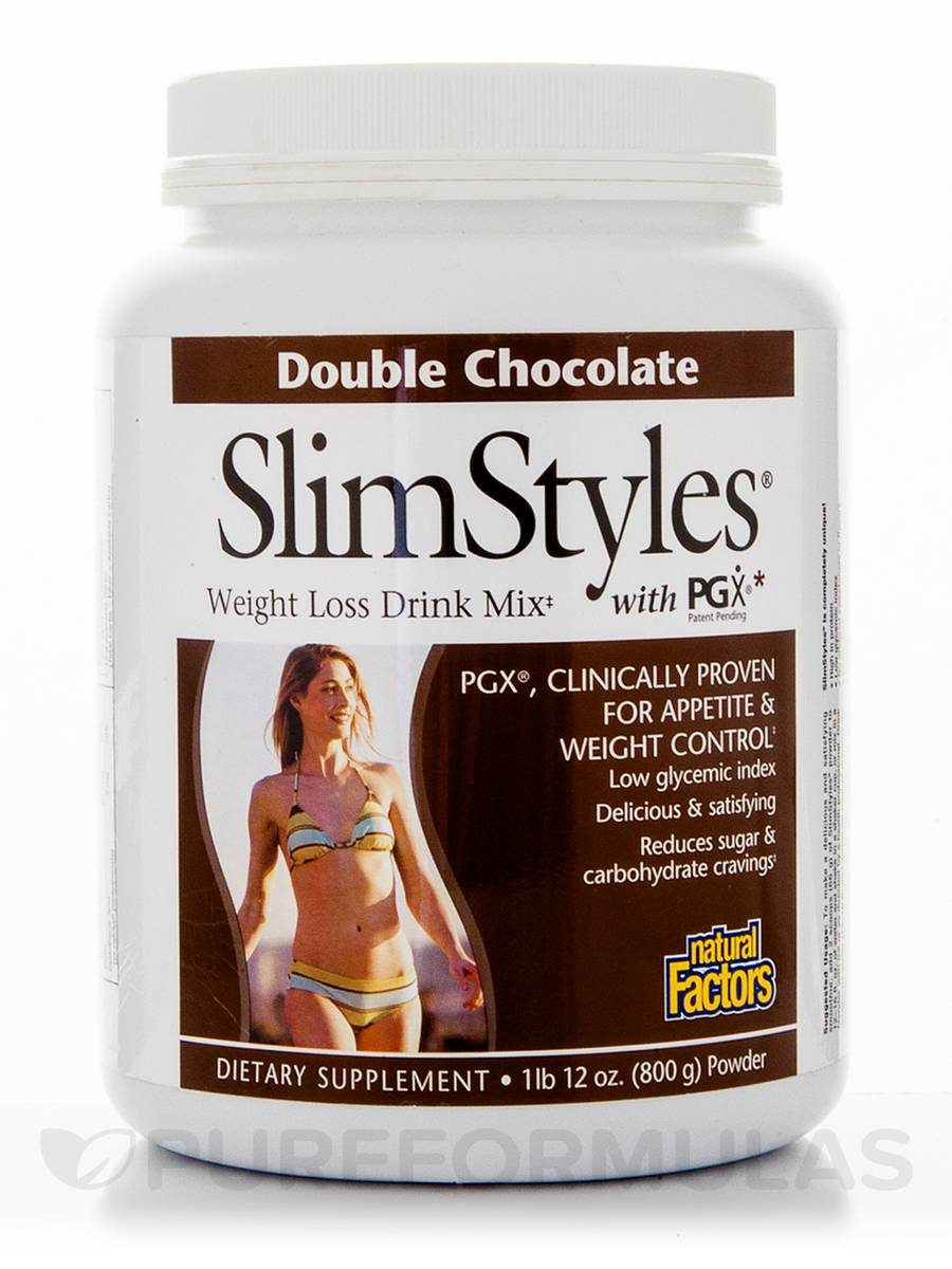 SlimStyles® Double Chocolate Powder - 1 lb 12 oz (800 Grams)
