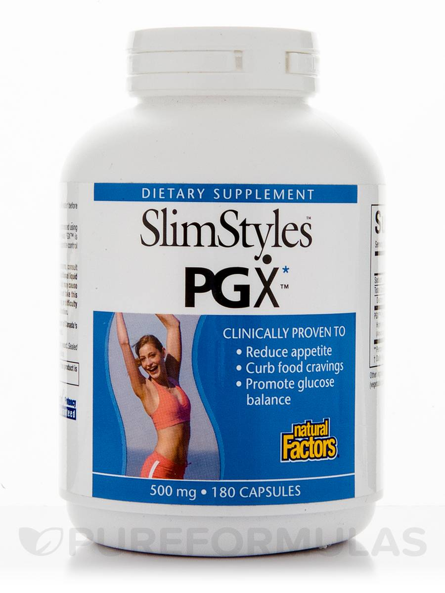 SlimStyles PGX 500 mg - 180 Capsules