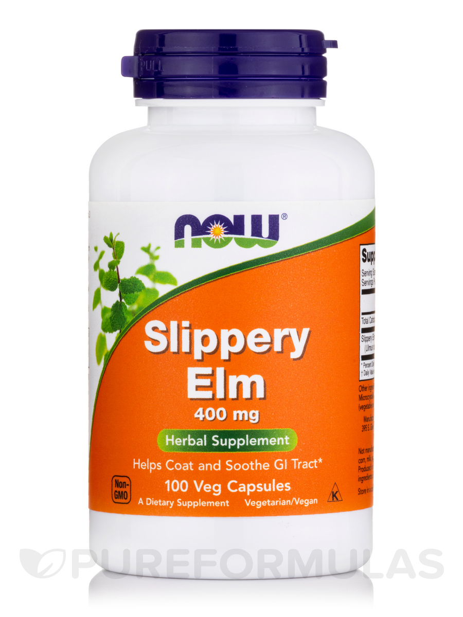 Slippery Elm 400 mg - 100 Capsules