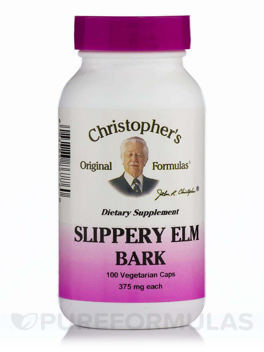 Slippery Elm Bark - 100 Vegetarian Capsules