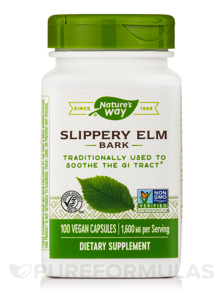 Slippery Elm Bark - 100 Vegan Capsules