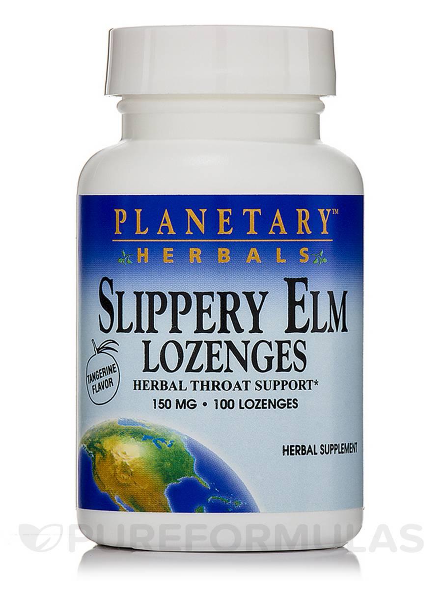Slippery Elm Lozenges Tangerine 150 mg - 100 Count